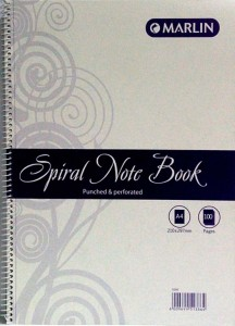 book spiralNotebook
